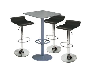 Ensemble de mobiliers en location : 3 x PAYRE noir / 1 x MALBAN gris