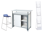 1 x ADOUR bleu / 1 x MAINE blanc / 1 x PHILIBERT blanc : ensemble de mobiliers en location