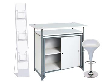 Ensemble de mobiliers en location : 1 x BILE blanc / 1 x MAINE blanc / 1 x PHILIBERT blanc