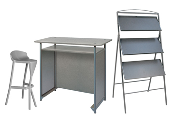 location tabouret bar et pr sentoir et comptoir ensemble 1 x kerdonis gris 1 x anjou gris 1. Black Bedroom Furniture Sets. Home Design Ideas