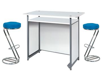Ensemble de mobiliers en location : 2 x FREHEL bleu / 1 x POL blanc