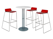 3 x ADOUR rouge / 1 x SANGUINET blanc : ensemble de mobiliers en location