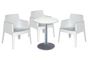 3 x BERGERAC blanc / 1 x CHAUSEY blanc : ensemble de mobiliers en location