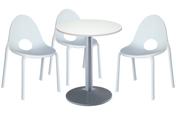 3 x DIVONNE blanc / 1 x CHAUSEY blanc : ensemble de mobiliers en location