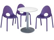 3 x DIVONNE violet / 1 x CHAUSEY blanc : ensemble de mobiliers en location