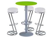 3 x FREHEL blanc / 1 x JERSEY vert : ensemble de mobiliers en location