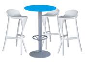 3 x KERDONIS blanc / 1 x JERSEY bleu : ensemble de mobiliers en location