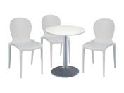3 x LIBOURNE blanc / 1 x CHAUSEY blanc : ensemble de mobiliers en location