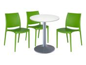 3 x PAU vert / 1 x CHAUSEY blanc : ensemble de mobiliers en location