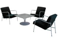 3 x CLISSON noir / 1 x MALVILLE gris : ensemble de mobiliers en location