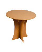 Location de mobilier : location table CARTON TABLE HAUTE