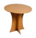 CARTON TABLE HAUTE : mobilier en carton en location